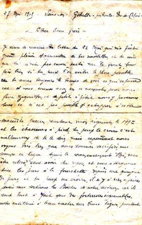 exemple de lettre d un soldat a sa famille Forez histoire exemple de lettre d un soldat a sa famille